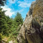 Huge Boulder beside the Mount Mitchell Trail