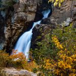 Linville Falls in Fading Sunlight