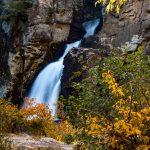 Linville Falls in Fading Sunlight