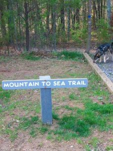Mountains to Sea Trail Sign at the Blue Ridge Parkway Visitor Center