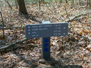 Visitor Center Loop Parking Area Sign