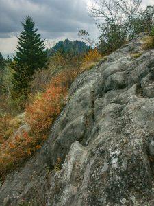 Rock Outcrop beside Little Sam Trail