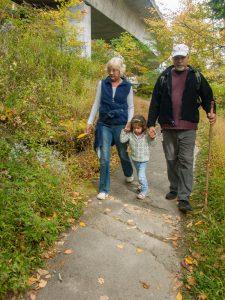 Family Hike under the Linn Cove Viaduct