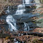 Waterfall beside Barnett Branch Trail