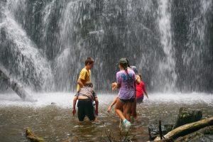 Kids Playing in Crabtree Falls