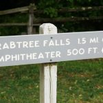 Sign at Start of Crabtree Falls Trail
