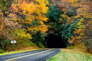 Twin Tunnels in Fall Color