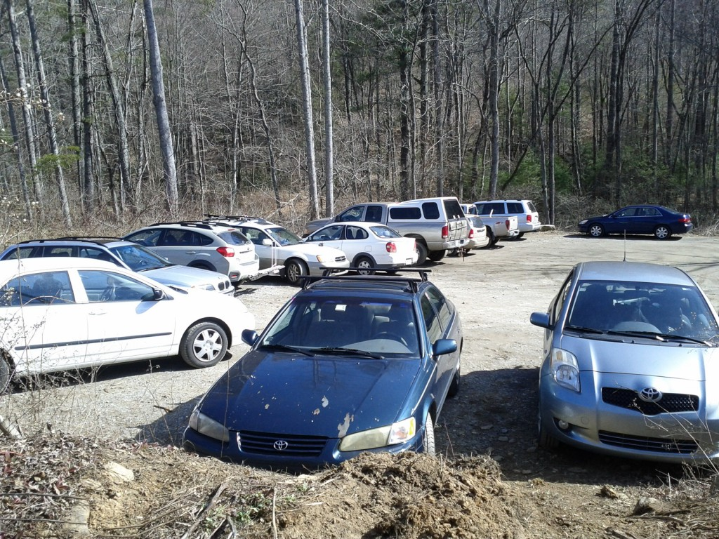 The parking lot was overflowing on this warm January day - the first time I've seen it that packed.