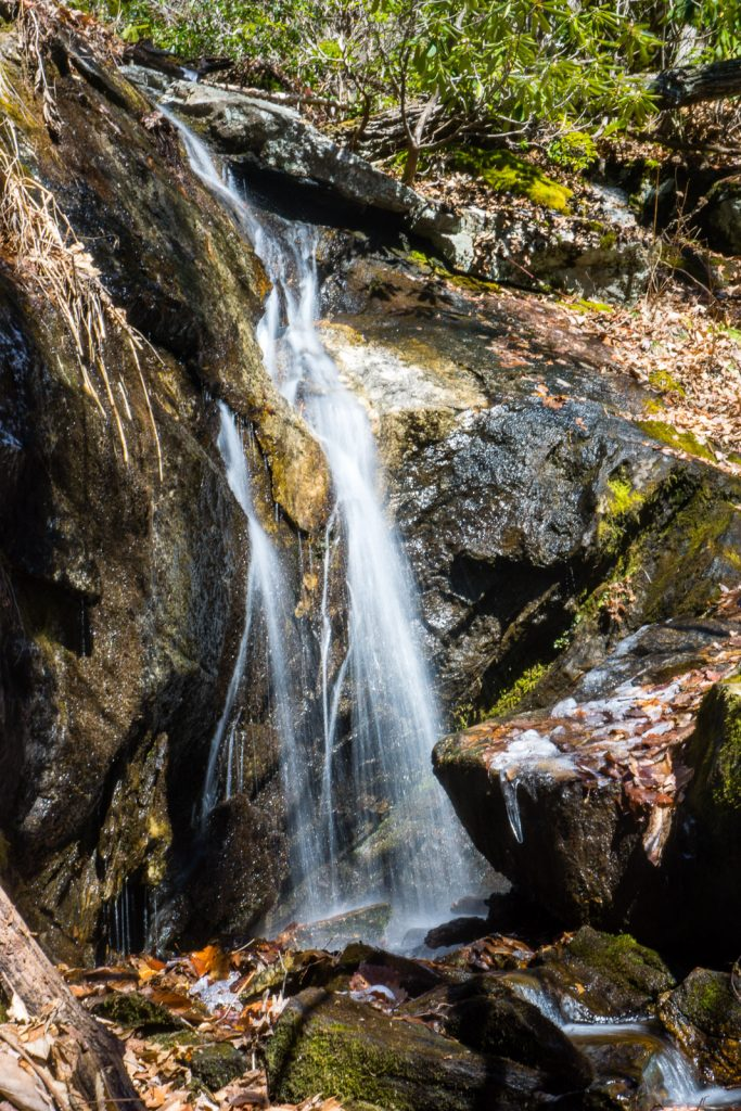 "Upper drop of the Waterfall on Wolf Branch, or ""Casita Falls"", Shope Creek, Pisgah National Forest"