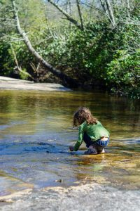 Playing in the Water at Granny Burrell Fals
