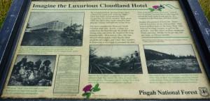 Cloudland Hotel Interpretive Sign
