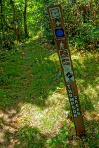 Sign at the Top of the Thompson Creek Trail