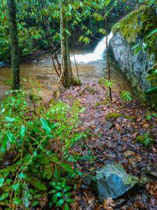 Small Cascade Above Toms Creek Falls