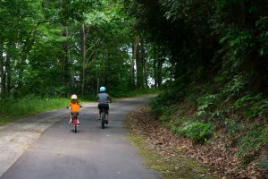Riding the Point Lookout Trail