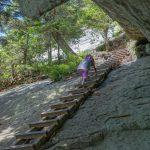 Ladder and Overhang on MacRae Peak