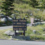 Hiker Parking Sign