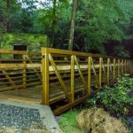 The new footbridge on the Catawba Falls Trail