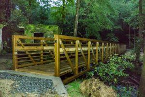 The new footbridge on the Catawba Falls Trail