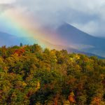 Rainbow over Fall Color