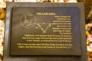 Cascades Trail Interpretive Sign