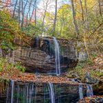 Grassy Creek Falls in Autumn Color