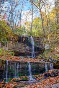 Grassy Creek Falls in Autumn Color