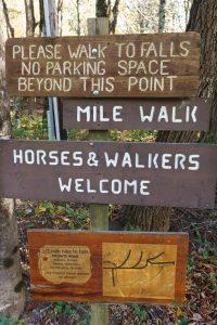 Grassy Creek Falls Sign
