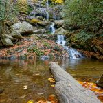 Lower Catawba Falls in Fall Color
