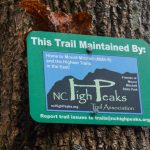 NC High Peaks Maintenance Sign