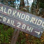 Bald Knob Ridge Trail Sign