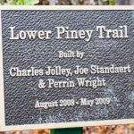 Lower Piney Trail Construction Sign