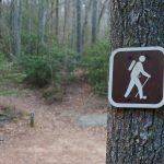 High Shoals Falls Loop Hiking Sign