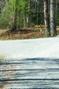 Bridal Veil Falls Road Sign