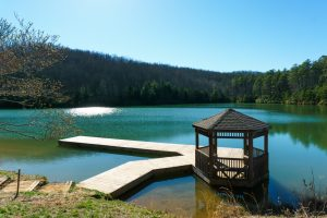 Fawn Lake Gazebo in Spring