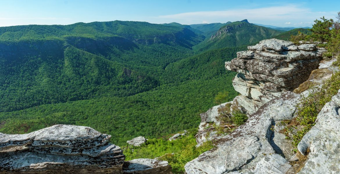 Linville Gorge from Shortoff Mountain