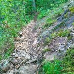 Rocky Trail below Rock Outcrop