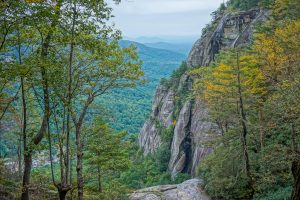 View from the Top of Hickory Nut Falls