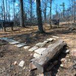 Bench on the Chestnut Knob Trail