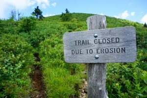 Trail Closed Due to Erosion