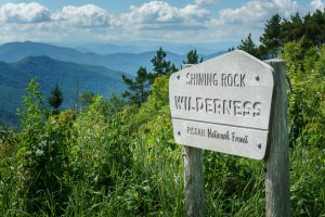 Shining Rock Wilderness Sign View