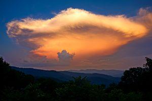 Thunderstorm over Swan Mountain