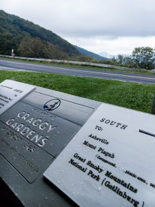 Locator Sign at Craggy Gardens