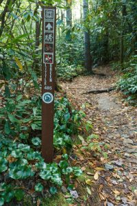 Sign on the Little Green Trail