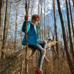 Climbing a Tree on the Mountains to Sea Trail