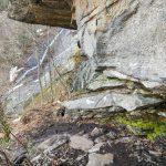 Wildcat Rock Trail under Rock Overhang