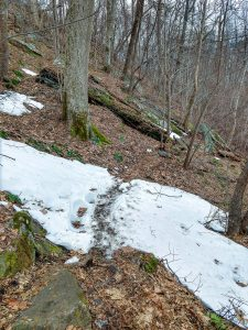 Patches of Snow on Little Bearwallow Mountain