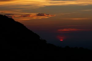 View of Sunset at the Craggy Dome Overlook