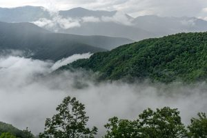 View of the Black Mountains From Big Laurel Gap Overlook After a Storm