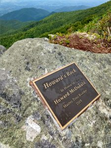 Howard's Rock on Big Firescald Knob