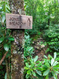 Sign for Jones Meadow